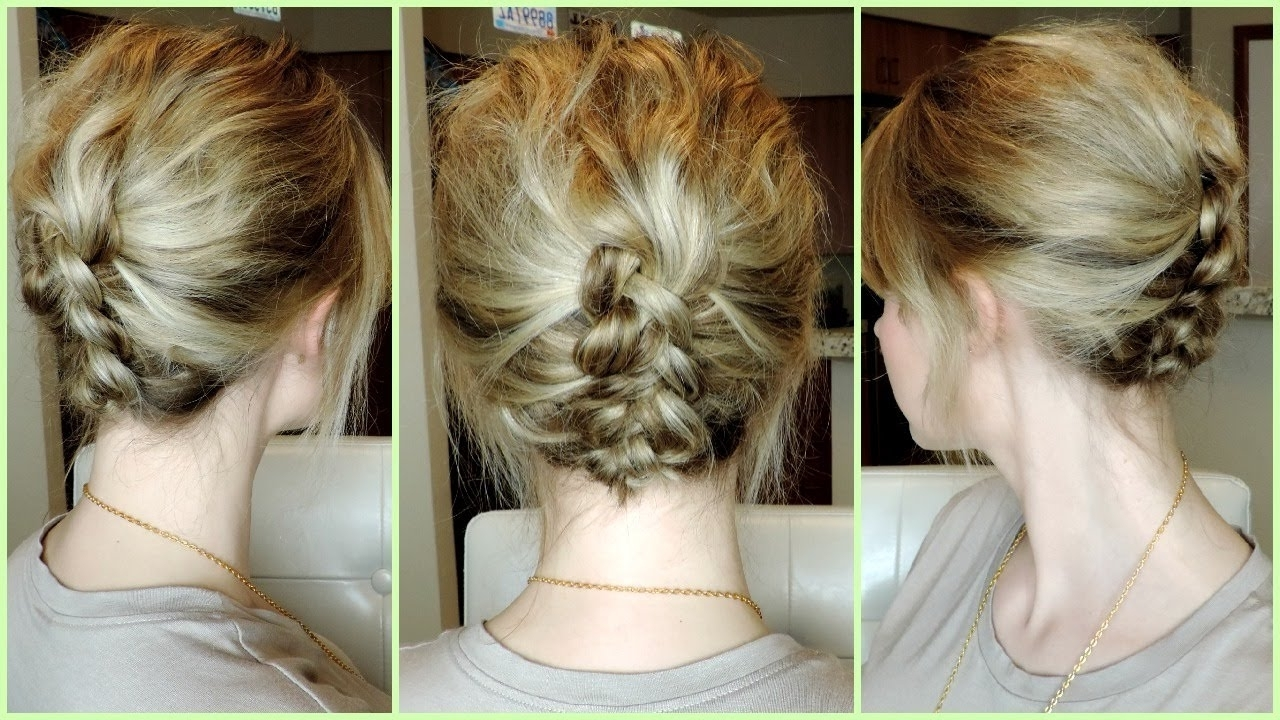 Easy Dutch Braid Updo For Short To Medium Hair – Youtube For Well Known Easy Casual Braided Updo Hairstyles (View 5 of 15)