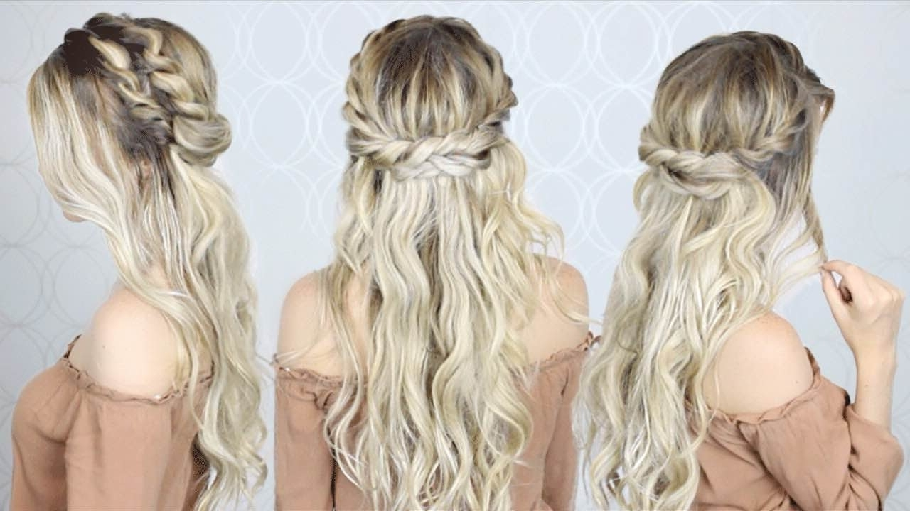 Easy & Simple – Youtube With Regard To Well Liked Braided Crown With Loose Curls (View 7 of 15)