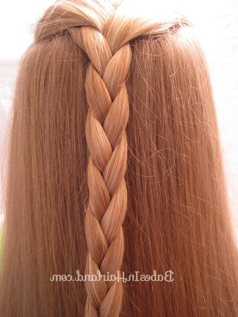 Easy Triple Braided Hairstyle – Babes In Hairland Within 2017 Triple The Braids Hairstyles (View 11 of 15)