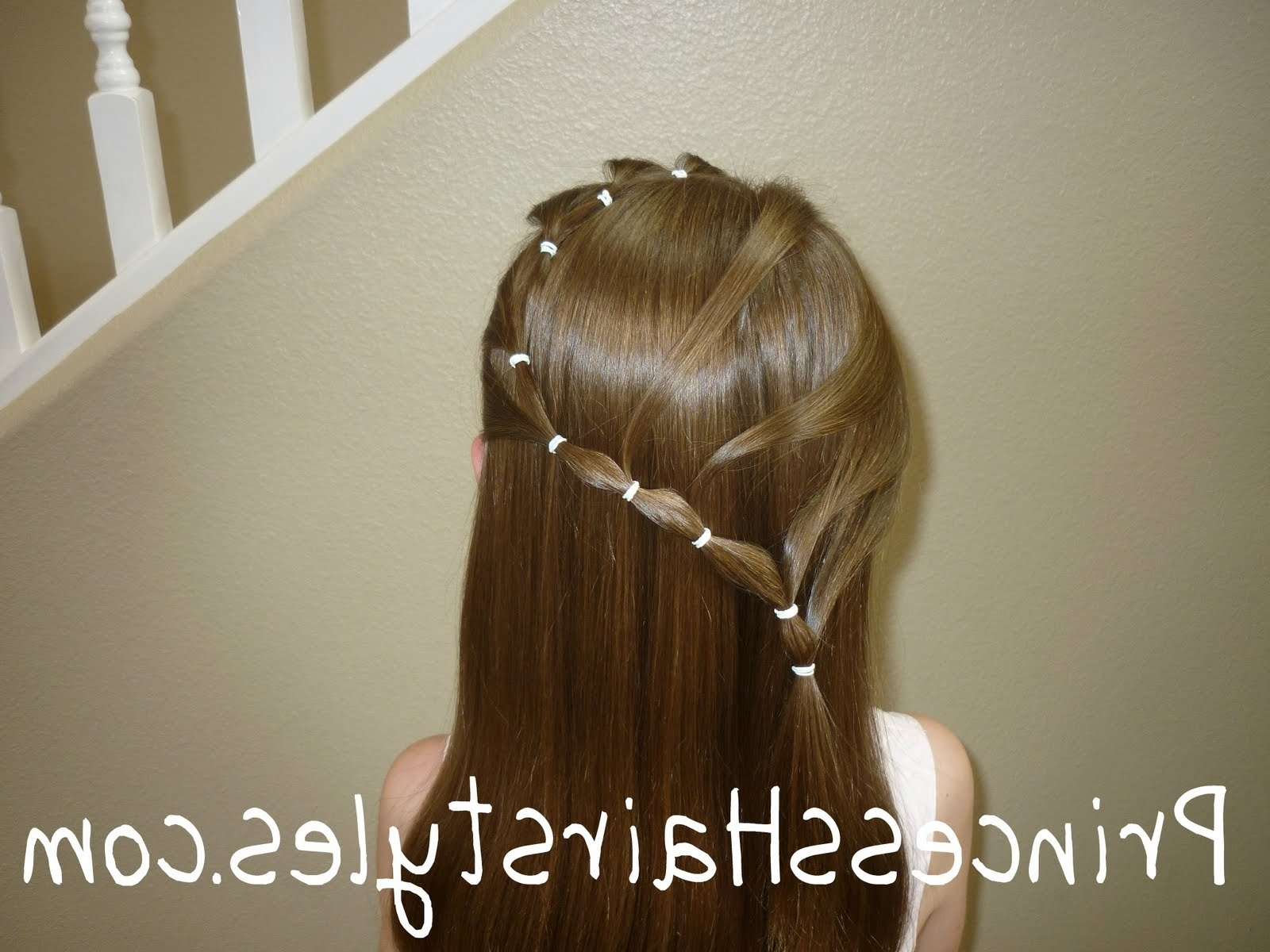 Elastic Curvy Braid Hairstyle – Hairstyles For Girls – Princess In Most Up To Date Snake Braids Hairstyles (View 15 of 15)