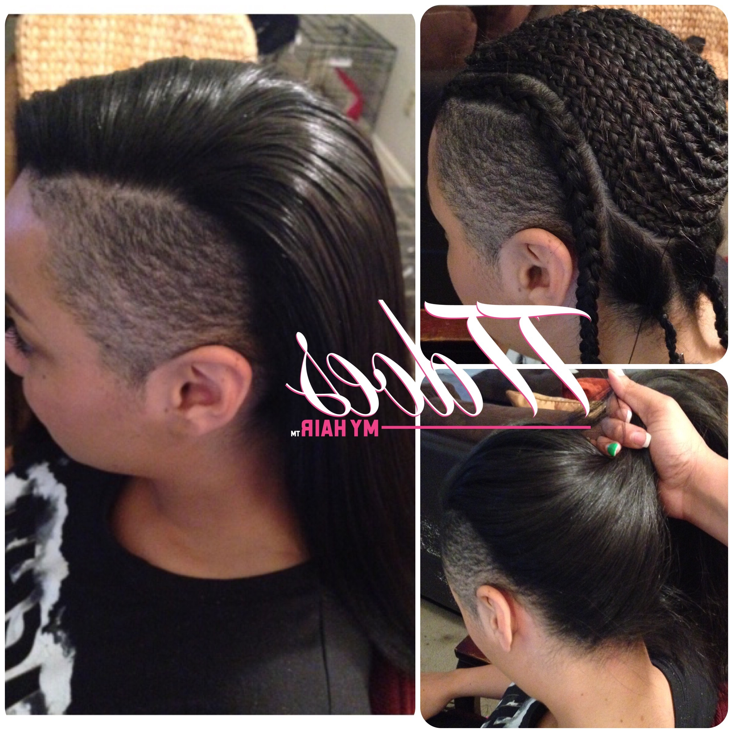 Enchanting Half Sew In Hairstyles With Cornrow Patterns For Sew In Pertaining To Newest Cornrows And Sew Hairstyles (View 2 of 15)
