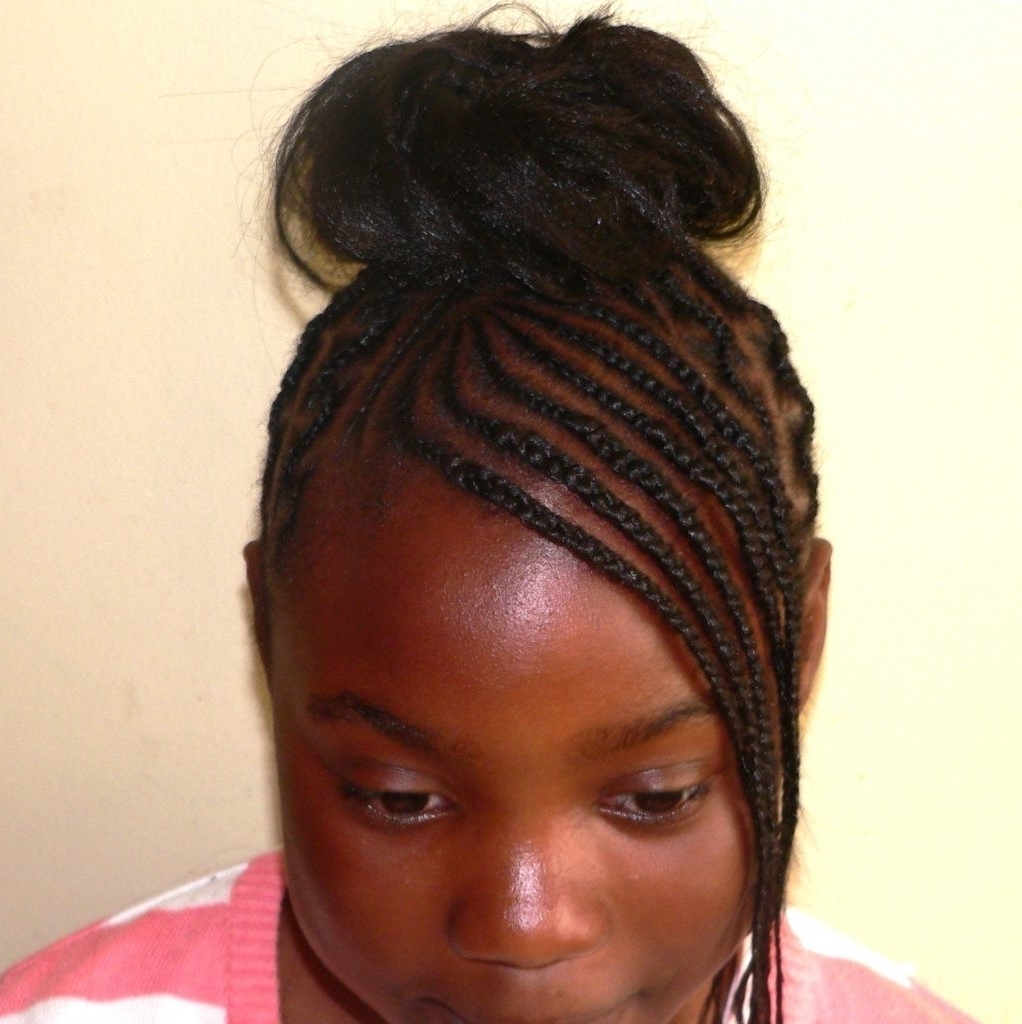 Fabulous Cornrows Hairstyle With Fringe – Womens Shirt Inside Favorite Cornrows Hairstyles With Bangs (View 5 of 15)