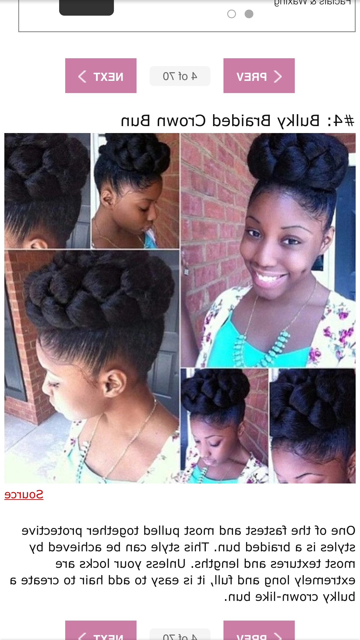 Famous Bulky Braided Crown Bun Inside Pinangela Shealy On Hair Styles I Want (View 6 of 15)