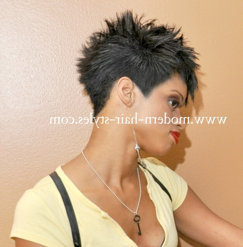 Famous Choppy Asymmetrical Black Pixie Haircuts With Regard To Black Hairstyles For Short Hair, Pictures, And Quick Weaves (View 6 of 15)