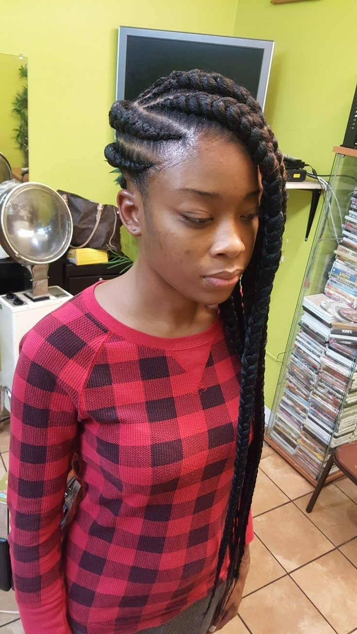 Famous Classic Fulani Braids With Loose Cascading Plaits In 12 Best 3In1Braids Images On Pinterest (View 9 of 15)