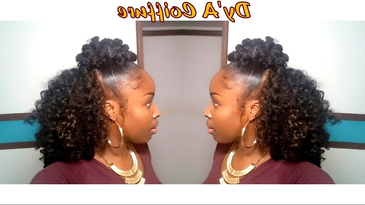 Famous Cornrows And Crochet Hairstyles Regarding Diy ☆ Easiest Crochet Braids Ever (No Cornrow) For A Natural Look (View 6 of 15)