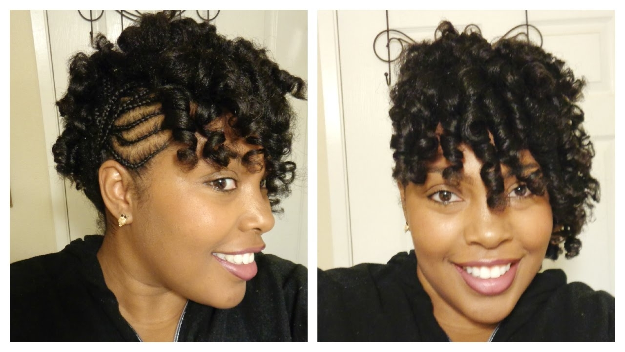 Famous Curly Mohawk With Flat Twisted Sides Within Perm Rods On Natural Hair With Cornrows On The Side! Supa Natural (View 4 of 15)