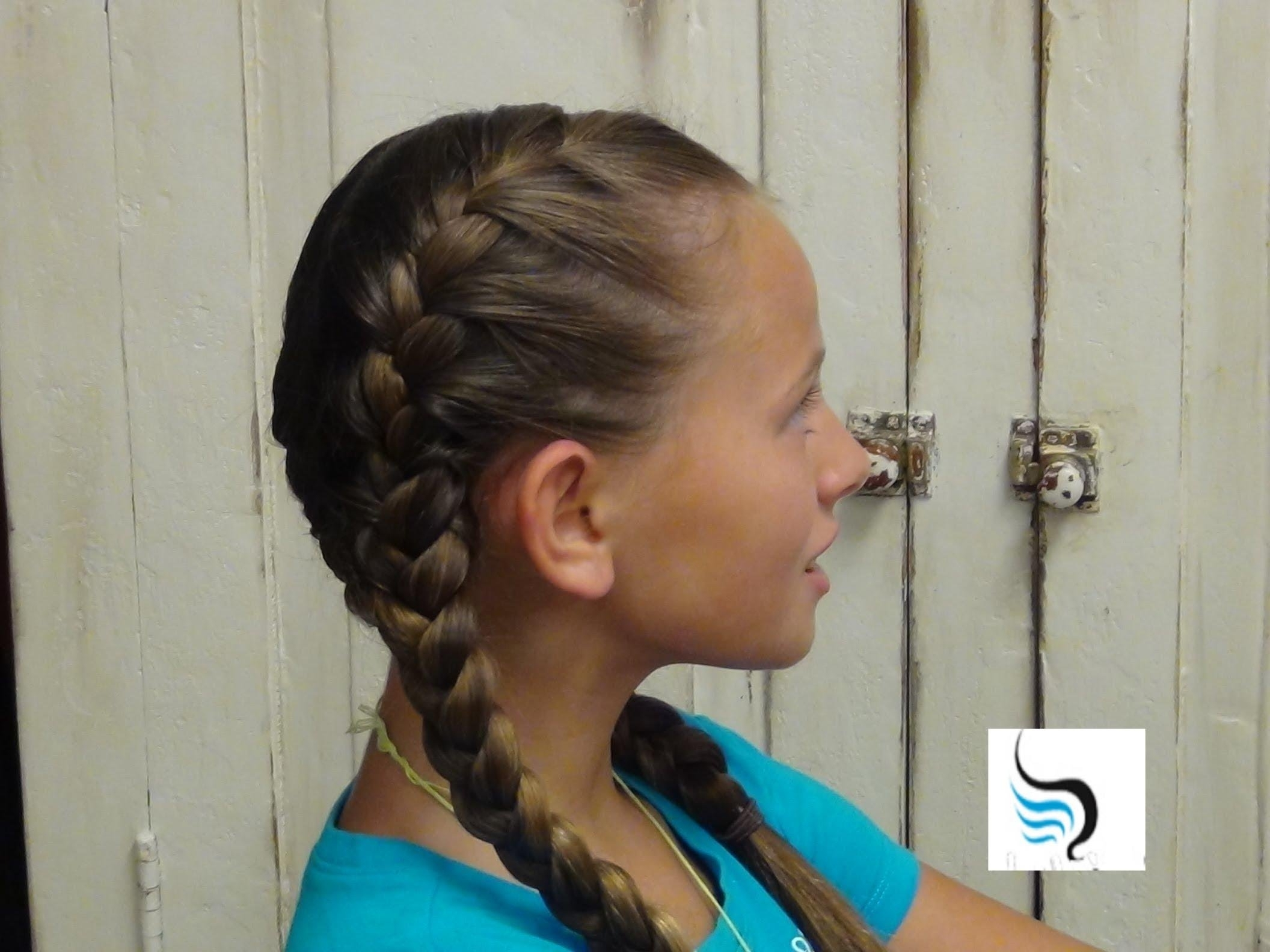 Famous Double French Braids And Ponytails Pertaining To How To Do Tight (Double French Braid) Girls Hairstyles – Youtube (View 8 of 15)