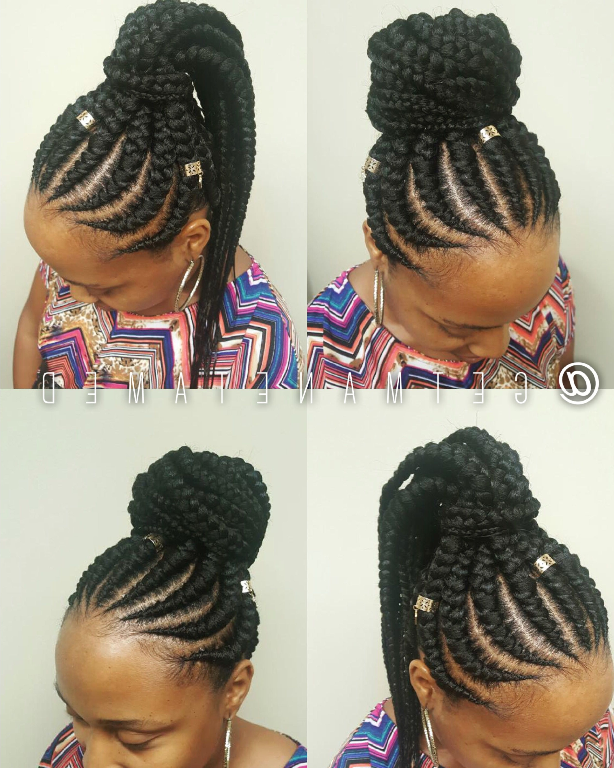 Famous Feed In Bun With Ghana Braids With Regard To Feed In Braids. Feed In Cornrows. Ghana Cornrows (View 6 of 15)