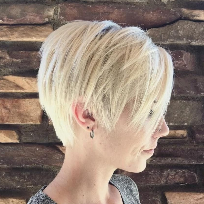 Photo Gallery Of Finely Chopped Pixie Haircuts For Thin Hair