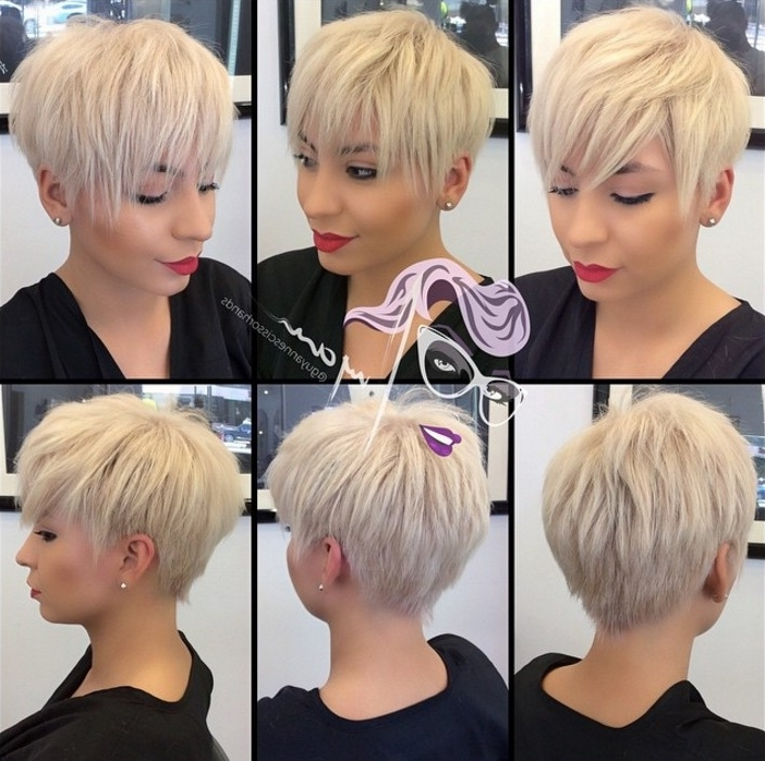 Famous Funky Blue Pixie With Layered Bangs With 21 Gorgeous Long Pixie Haircuts – Popular Haircuts (View 7 of 15)