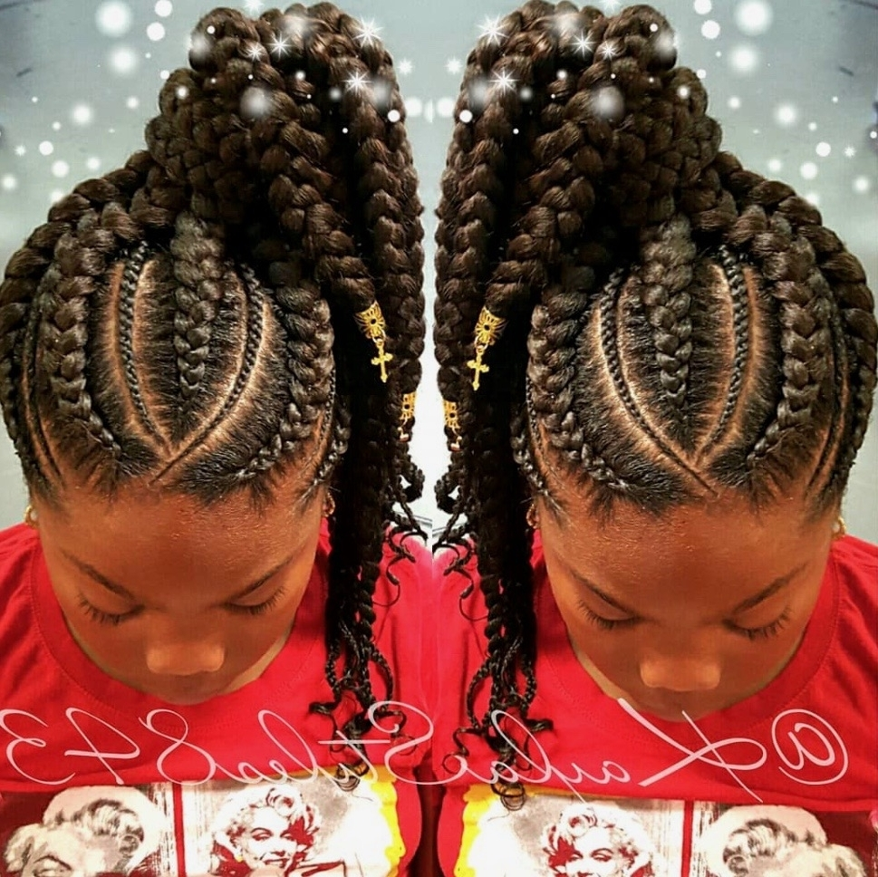 Famous Ghana Braids Bun Hairstyles Inside Braid Hairstyles 2018 – 40 Ghana Braid, Box Braid, Goddess Braid (View 7 of 15)
