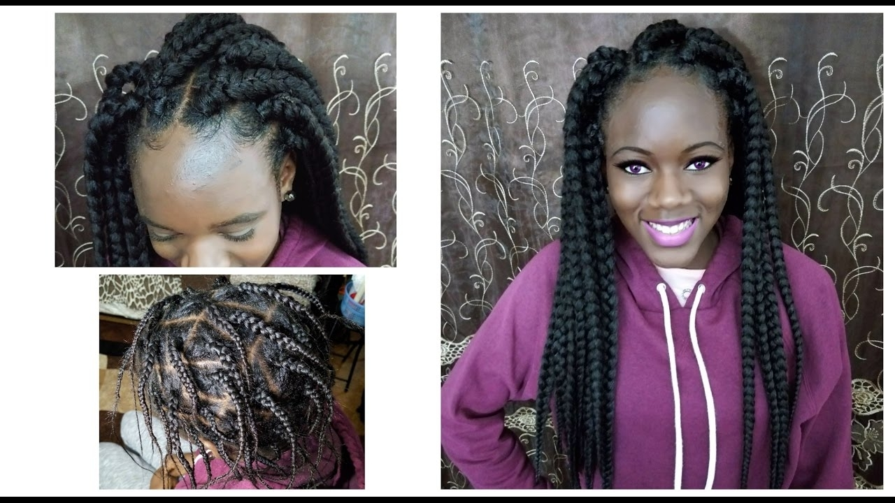 Famous Half Cornrows Half Individual Braids Intended For Diy Individual Crochet Box Braid (View 7 of 15)