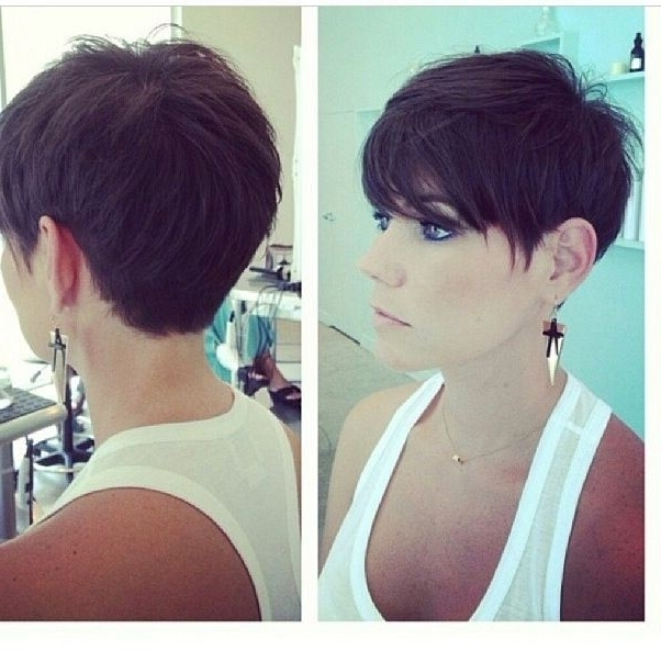 Famous Long Tapered Pixie Haircuts With Side Bangs In 20 Chic Pixie Haircuts Ideas – Popular Haircuts (View 7 of 15)