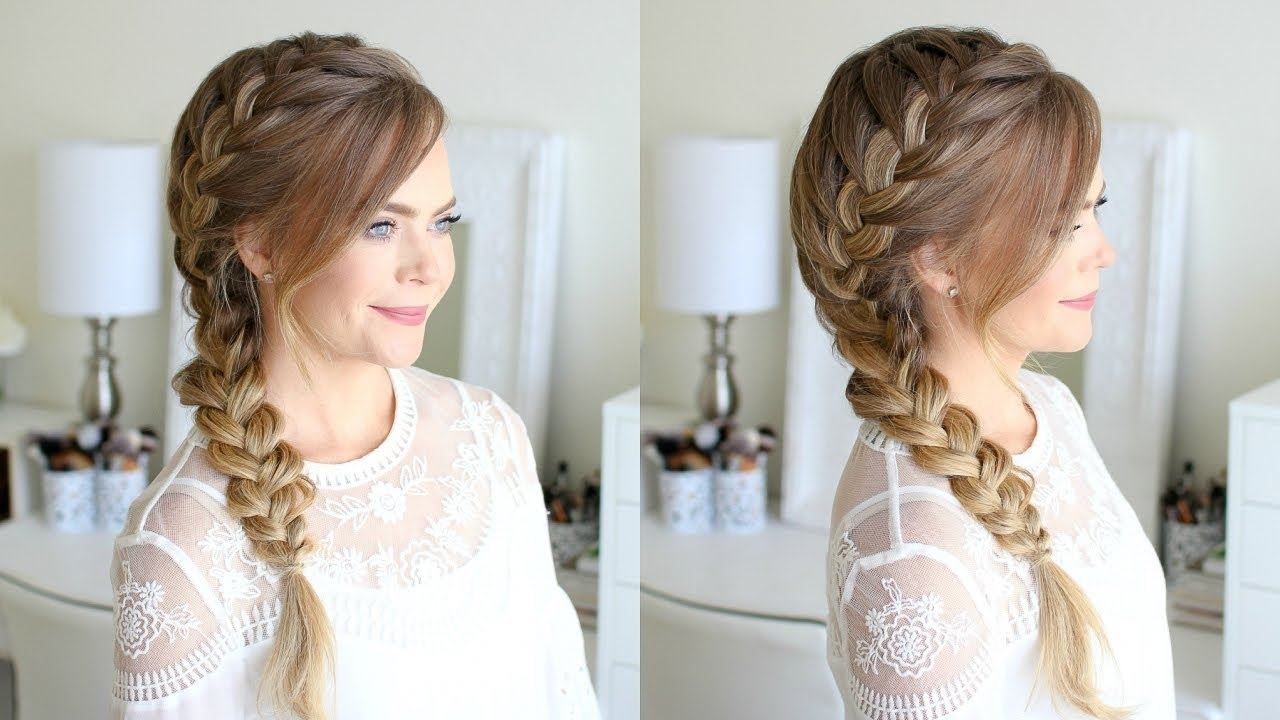 Famous Low Side French Braid Hairstyles For Side French Braid (View 11 of 15)