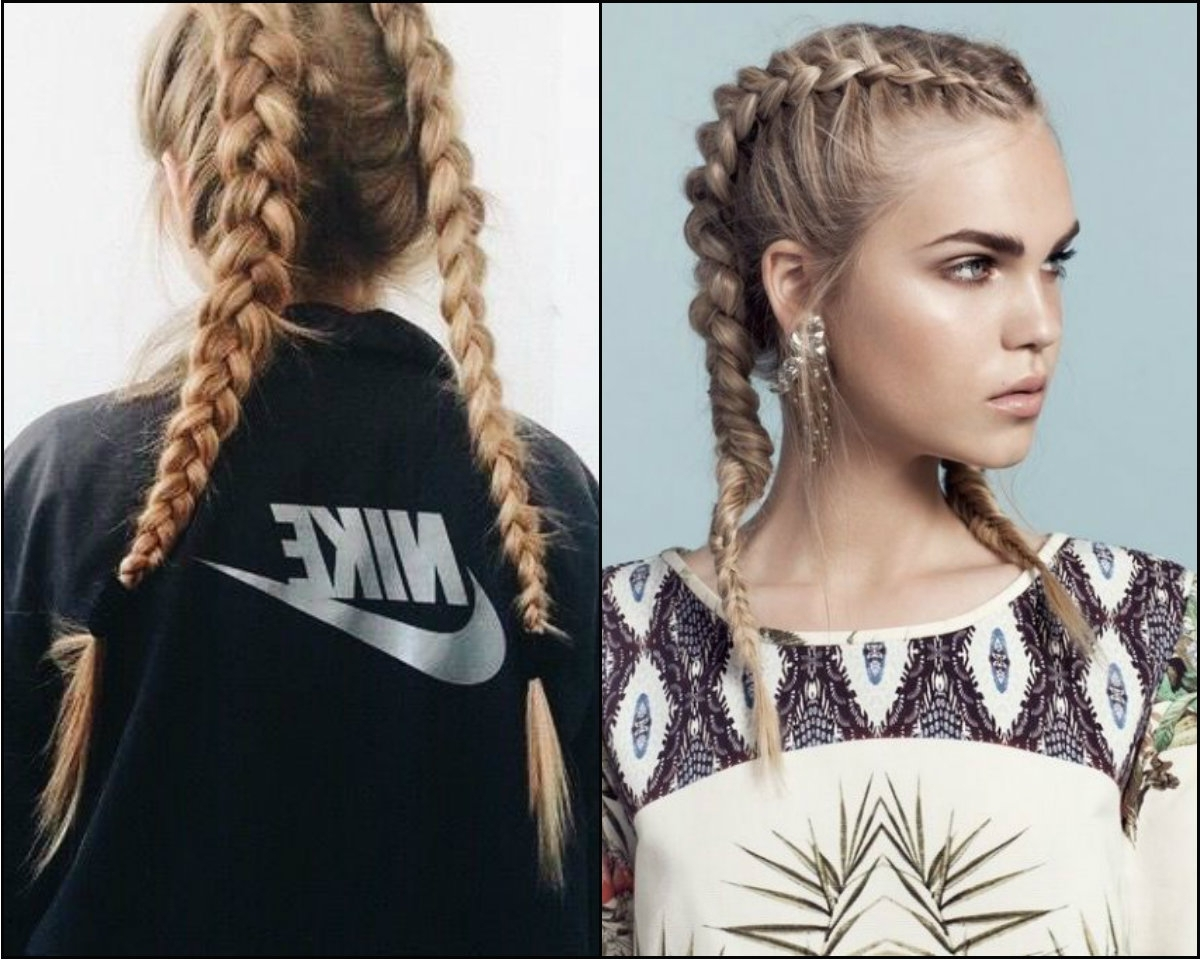 Famous Messy Double Braid Hairstyles With Volitional Double Braids Hairstyles To Dare Look Different (View 8 of 15)