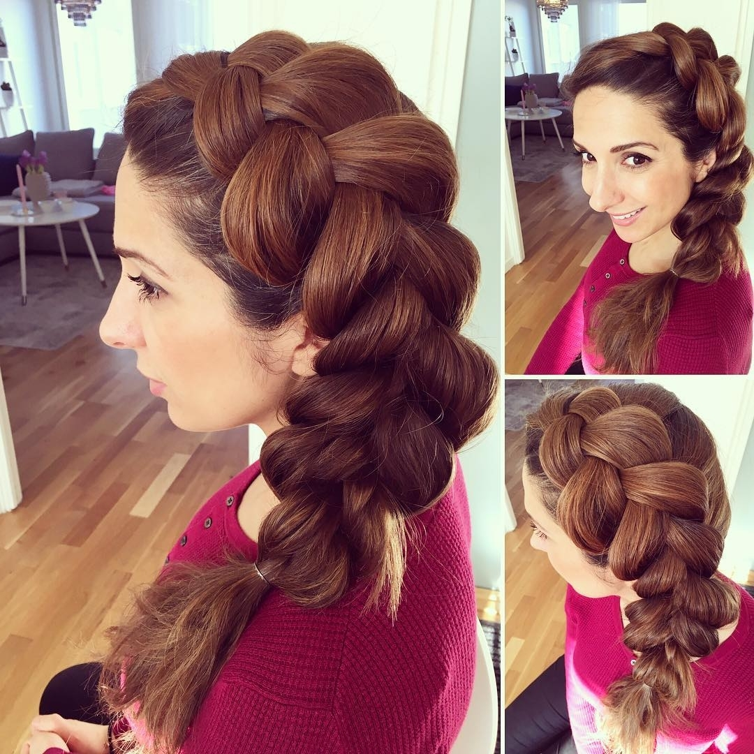 Famous Side Braid Hairstyles For Medium Hair Intended For 25+ Side Braid Hairstyle Designs, Ideas (View 13 of 15)
