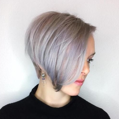 Famous Side Parted Silver Pixie Bob Haircuts For 60 Gorgeous Long Pixie Hairstyles (View 6 of 15)