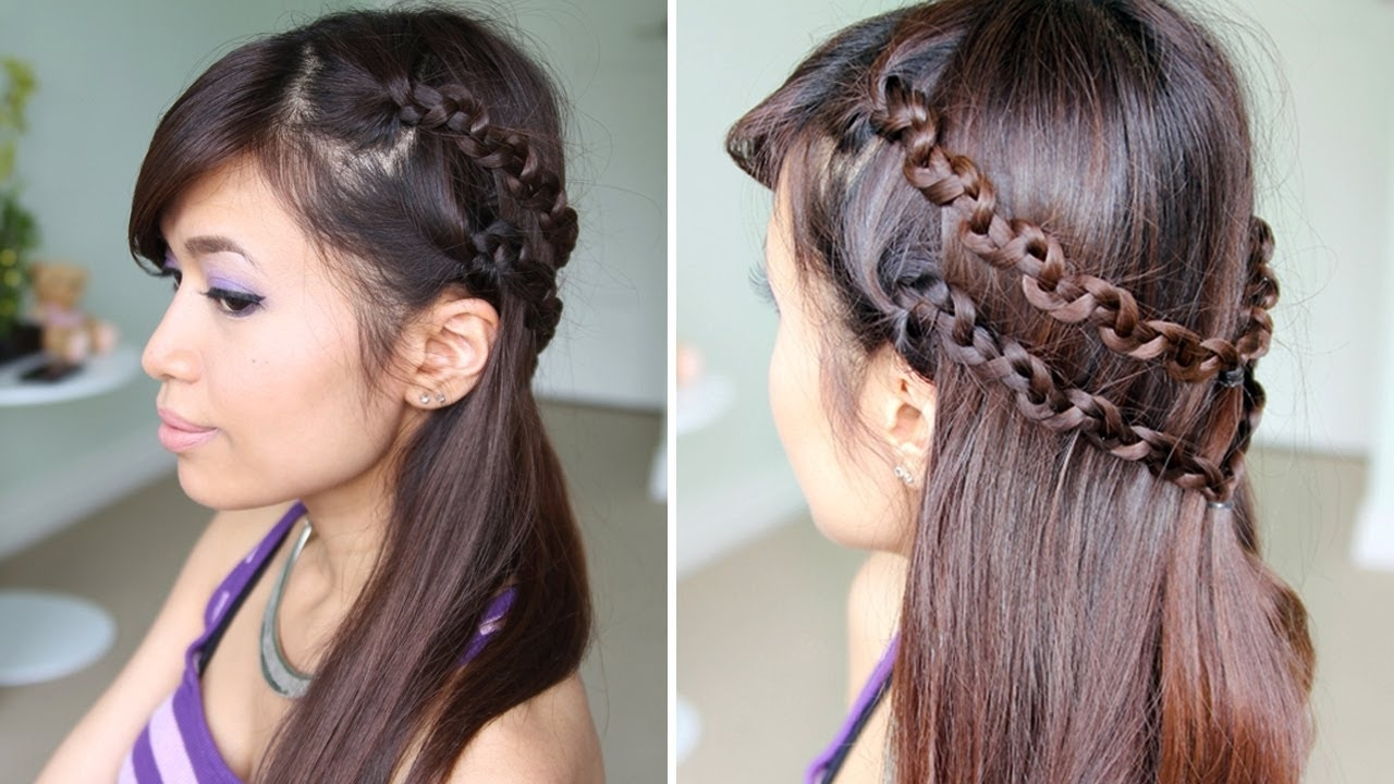Famous Snake Braids Hairstyles With How To: Snake Braid Headband Hairstyle For Medium Long Hair Tutorial (View 1 of 15)