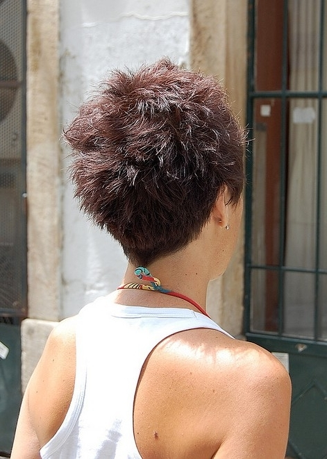 Famous Stacked Pixie Haircuts With V Cut Nape Regarding 55 Super Hot Short Hairstyles 2017 – Layers, Cool Colors, Curls, Bangs (View 11 of 15)