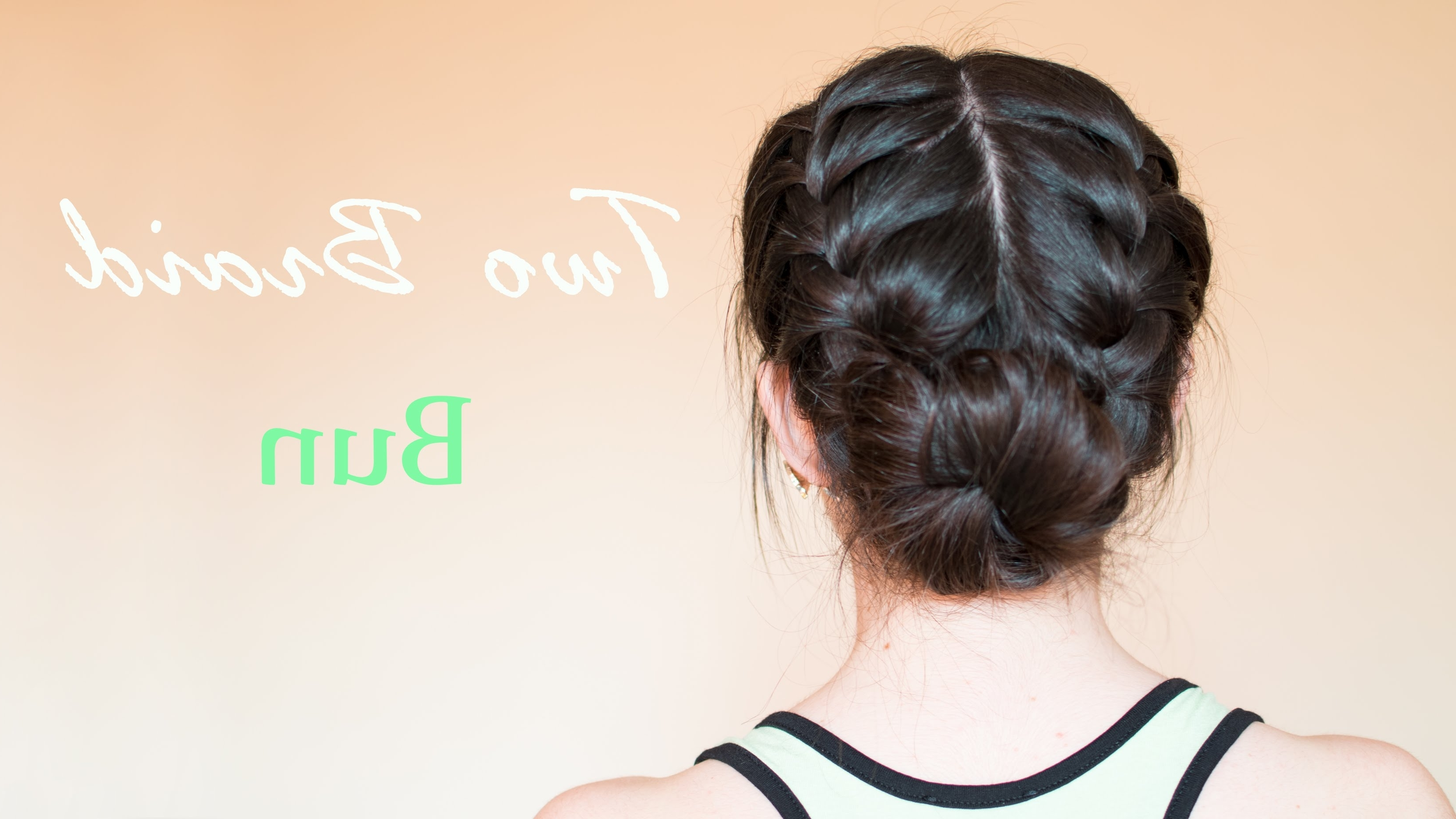 Famous Twin Braid Updo Hairstyles Within Two Braid Bun (View 9 of 15)