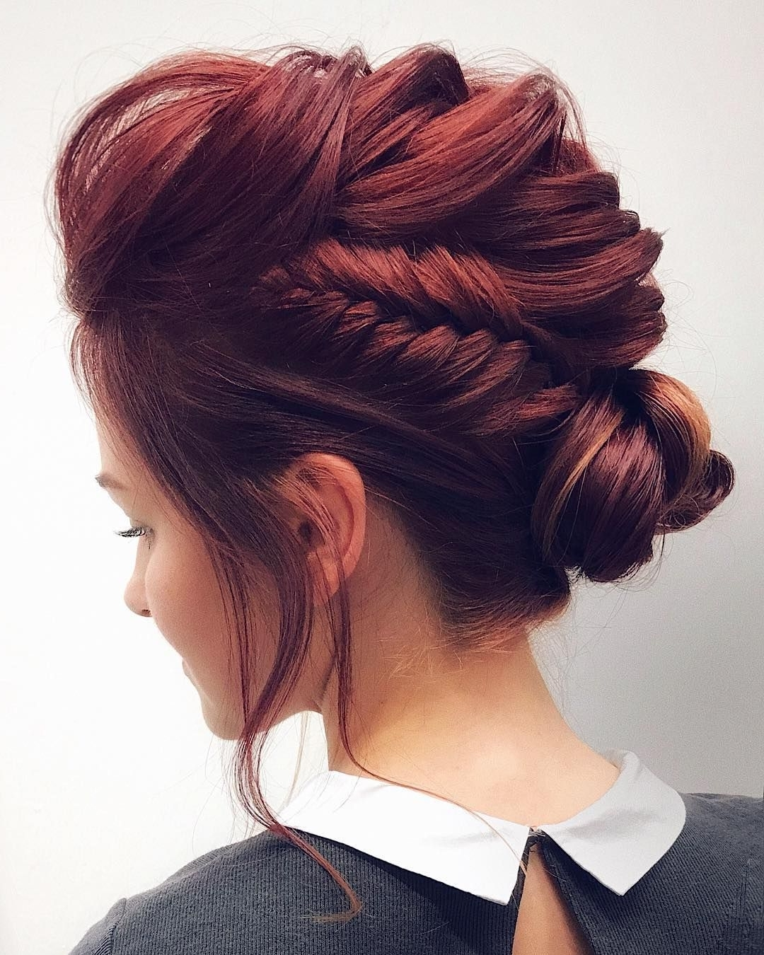 Famous Unique Braided Up Do Hairstyles Within Gorgeous Feminine Braided Updo Wedding Hairstyles (View 14 of 15)