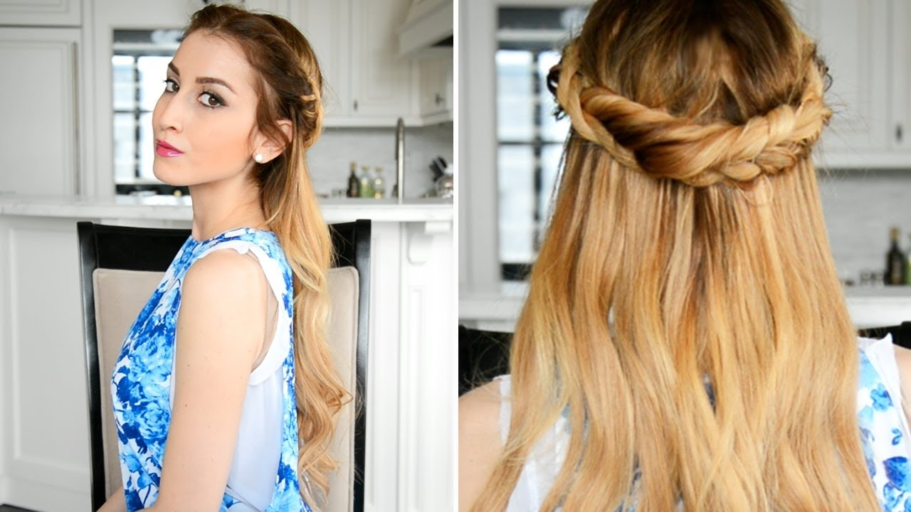 Fancy Hair Tutorial – Youtube With Most Up To Date Regal Braided Up Do Hairstyles (View 8 of 15)