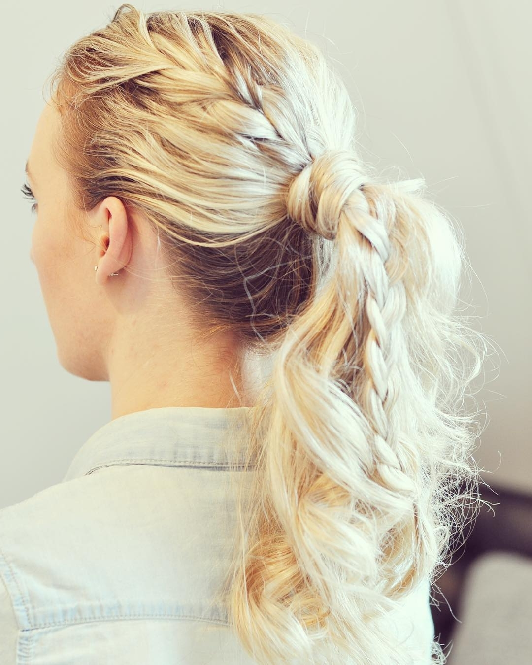 Fashionable Blonde Pony With Double Braids Intended For 30 Braided Ponytail Hairstyles To Slay In (View 3 of 15)
