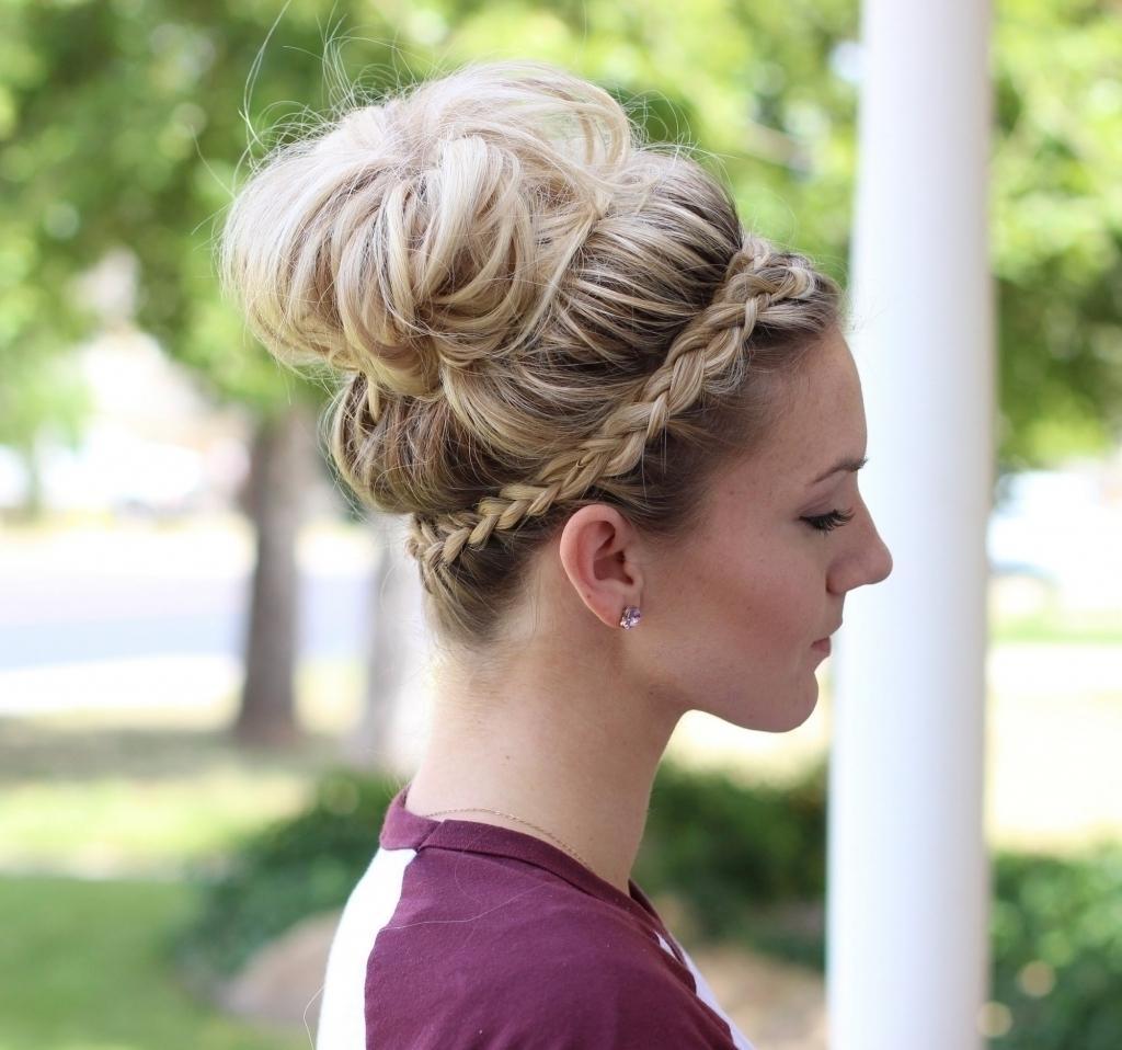 Fashionable Bulky Braided Crown Bun Inside Fishtail Braid Updo Hairstyles Fishtail French Braid Braided Bun Youtube (View 7 of 15)