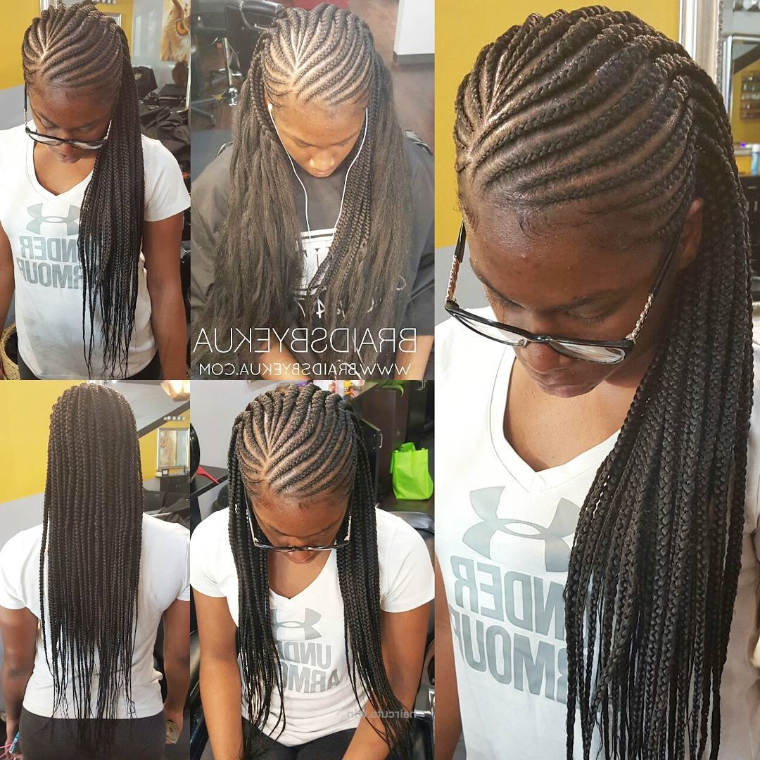 Fashionable Cornrows Hairstyles With No Edges With Braidedhairstyles At @cutz247 In #kennesaw And Of Course No Tugging (View 5 of 15)