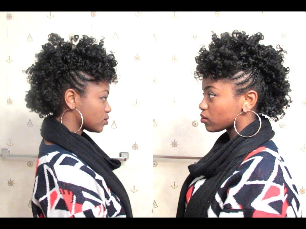 Fashionable Curly Mohawk With Flat Twisted Sides In Curly Mohawk On 4c Natural Hair – Youtube (View 6 of 15)