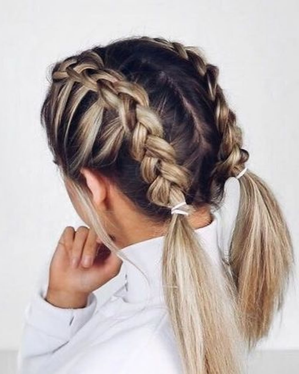 Fashionable Double French Braid Crown Hairstyles For French Braids 2018 (Mermaid, Half Up, Side, Fishtail Etc (View 4 of 15)