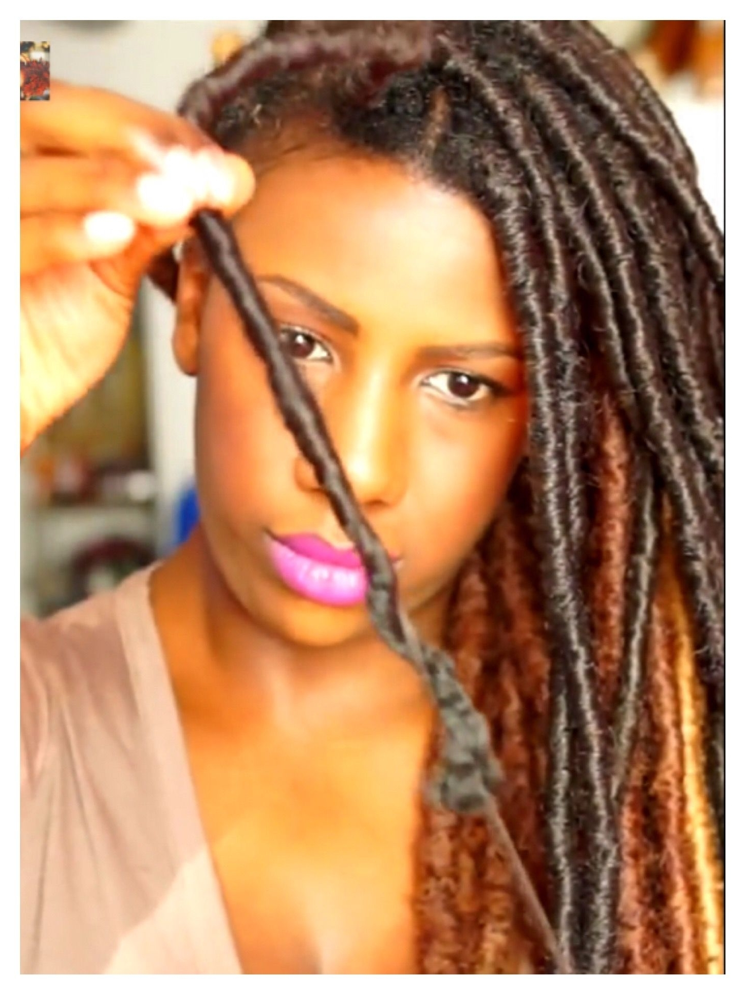Fashionable Dreadlock Cornrows Hairstyles Pertaining To 2 Ways To Take Down Faux Locs Quickly And Without Breakage (View 5 of 15)
