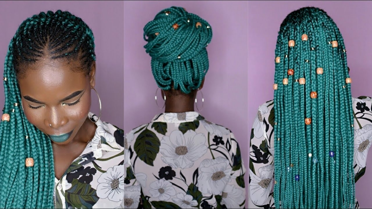 Fashionable Half Cornrows Half Individual Braids With How To: Half Cornrows Half Crochet Box Braids W/ Aliexpress Braiding (View 7 of 15)
