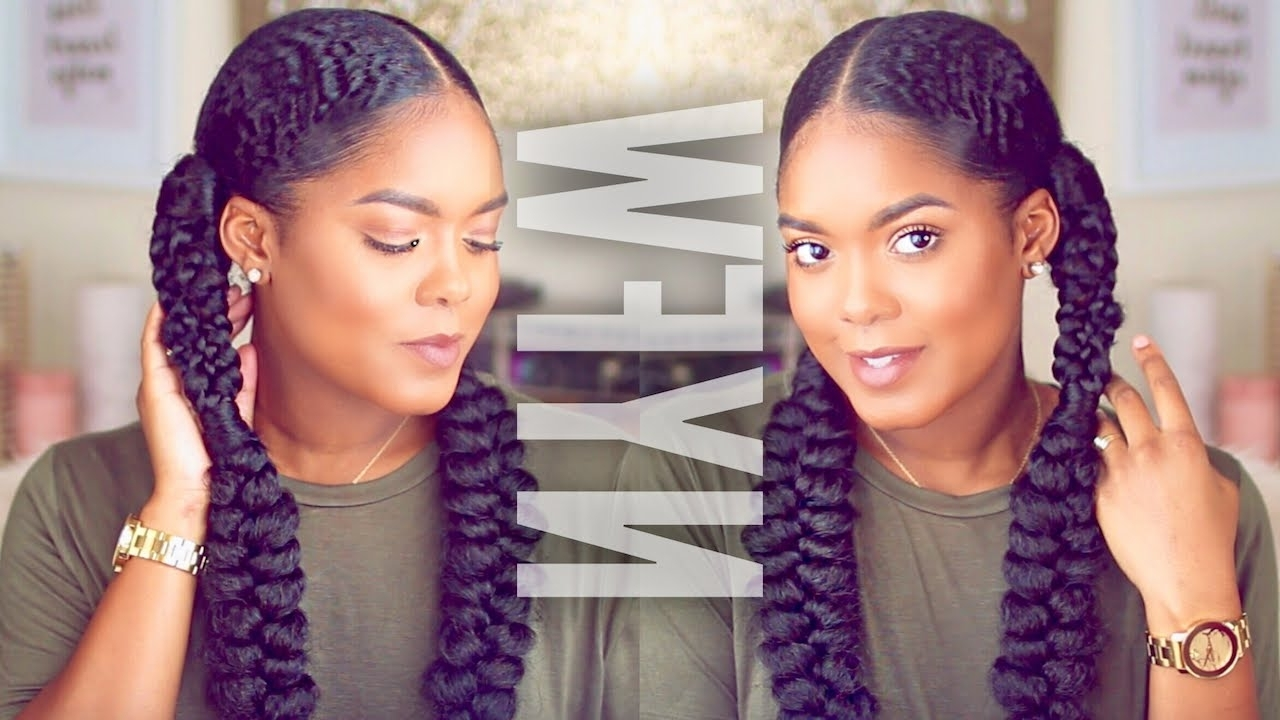 Fashionable Pocahontas Braids Hairstyles Intended For Natural Hair (View 4 of 15)