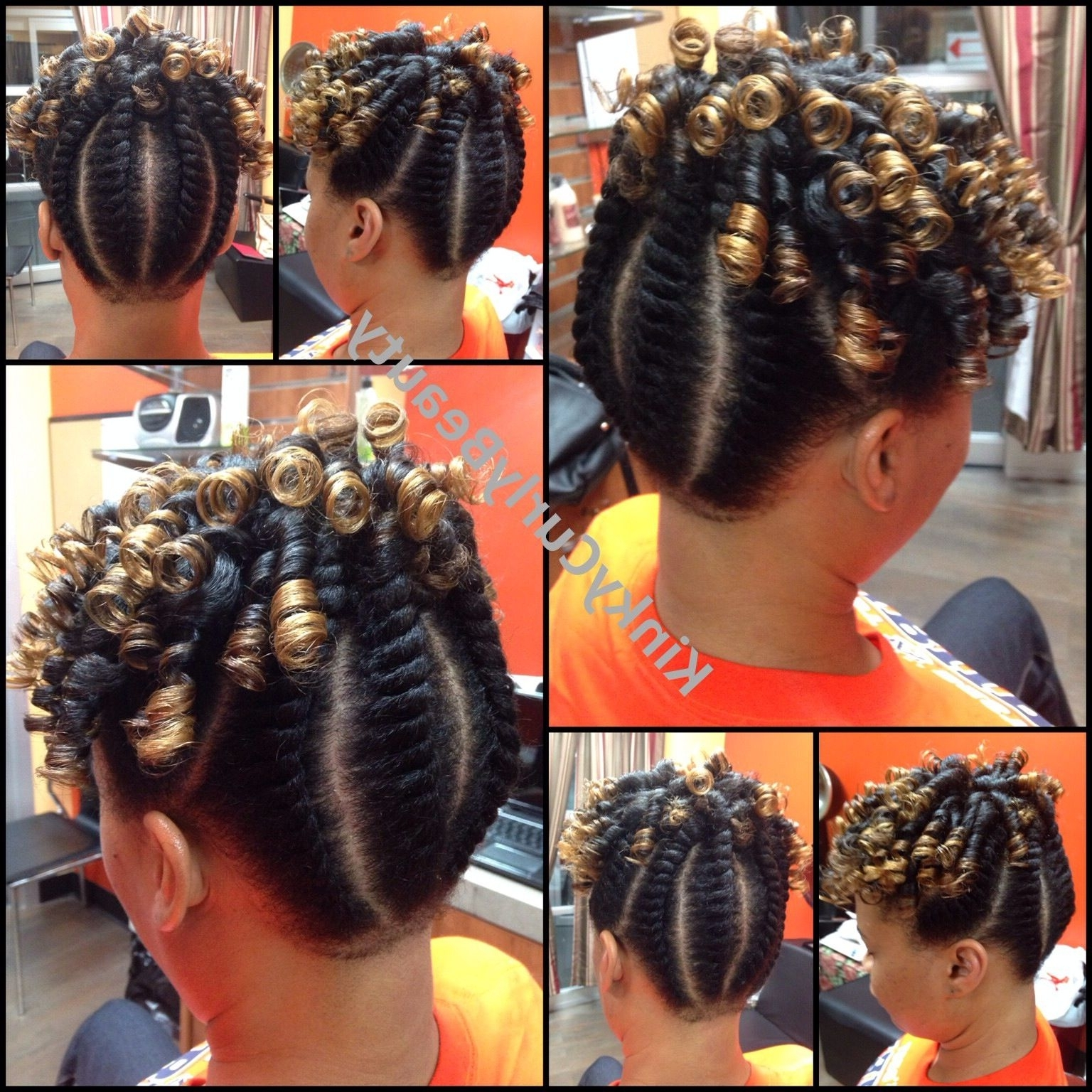 Fashionable Reverse Flat Twists Hairstyles With Dry Flat Twists And Rodsone Of My Signature Updo's (View 3 of 15)