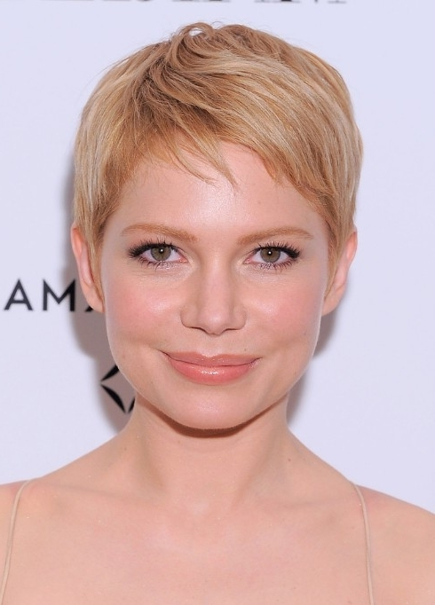 Featured Photo of Side Parted Blonde Balayage Pixie Haircuts