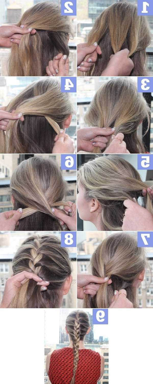 Fashionable Simple French Braids For Long Hair Inside Simple French Braid Tutorial – Style Your Hair (View 10 of 15)
