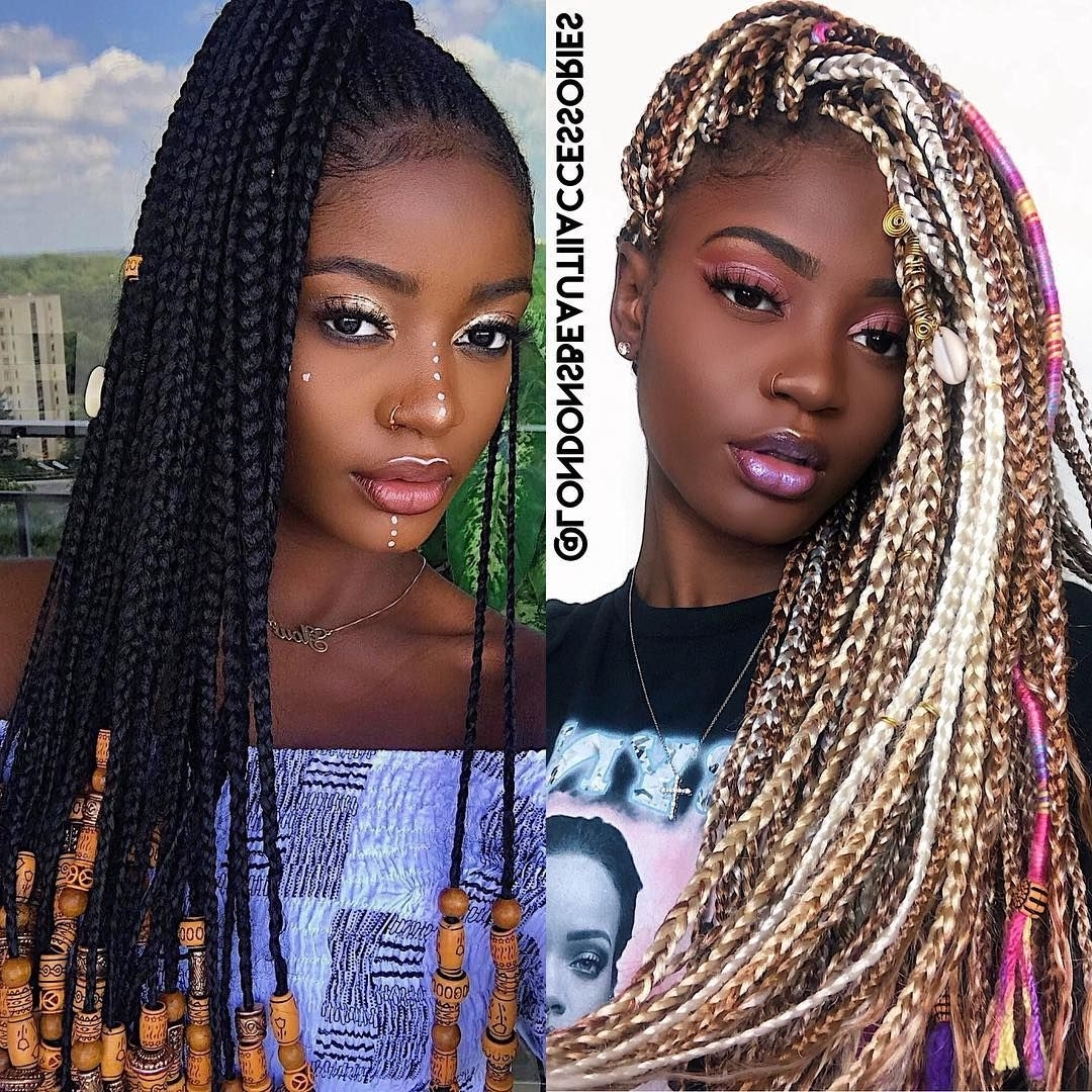 Fashionable Super Long Dark Braids With Cuffs In Hair Accessories ( Yarn Wraps, Loc Cuffs & Hair Beads (View 6 of 15)