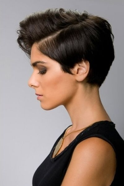 Fashionable Tapered Pixie With Maximum Volume Regarding Ultra Feminine Pixie With Big Volume In The Bangs (View 2 of 15)