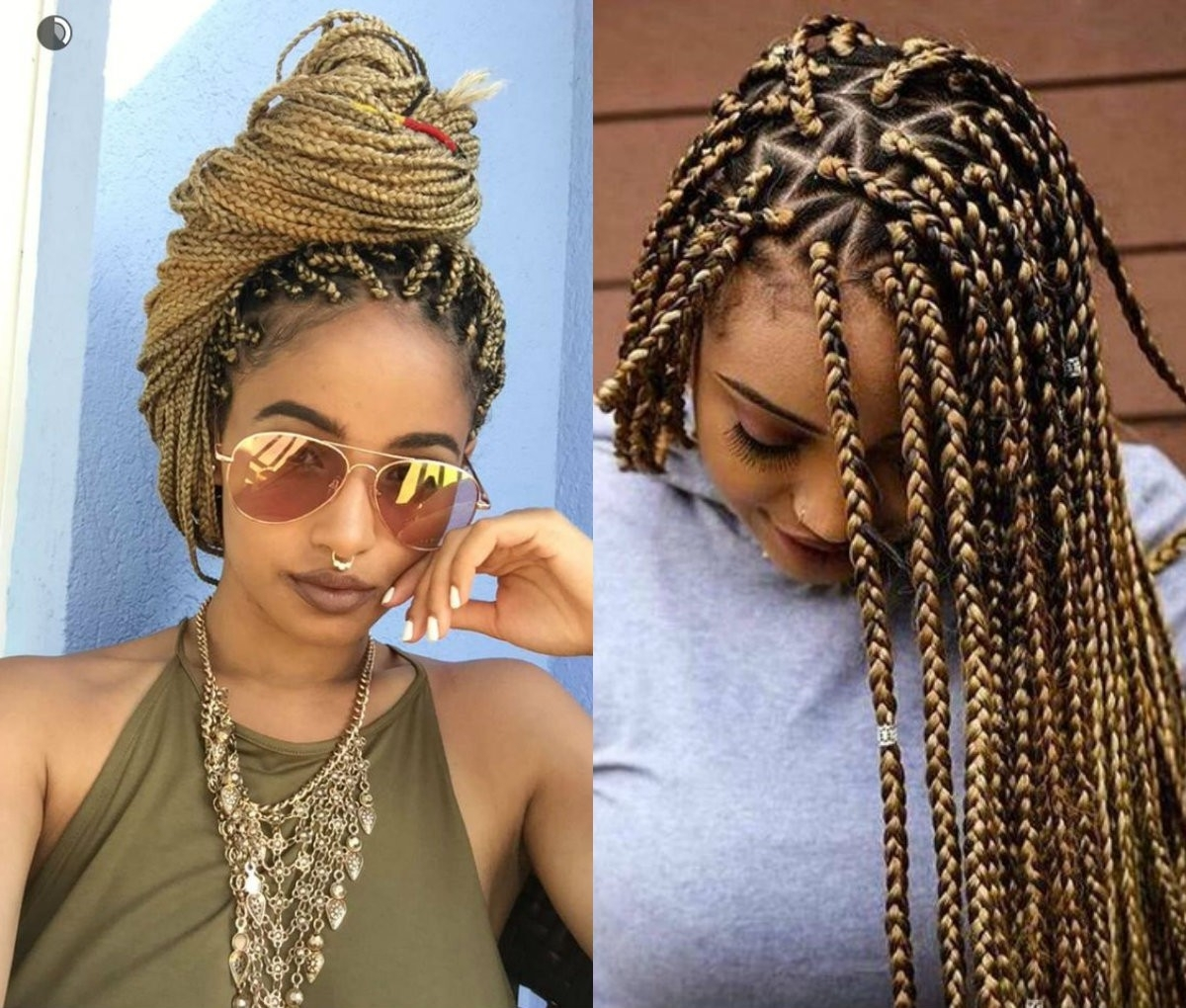 Fashionable Triangle Box Braids Hairstyles For Box Braids Hairstyles Triangle Parts Archives – Hairstyles And (View 9 of 15)