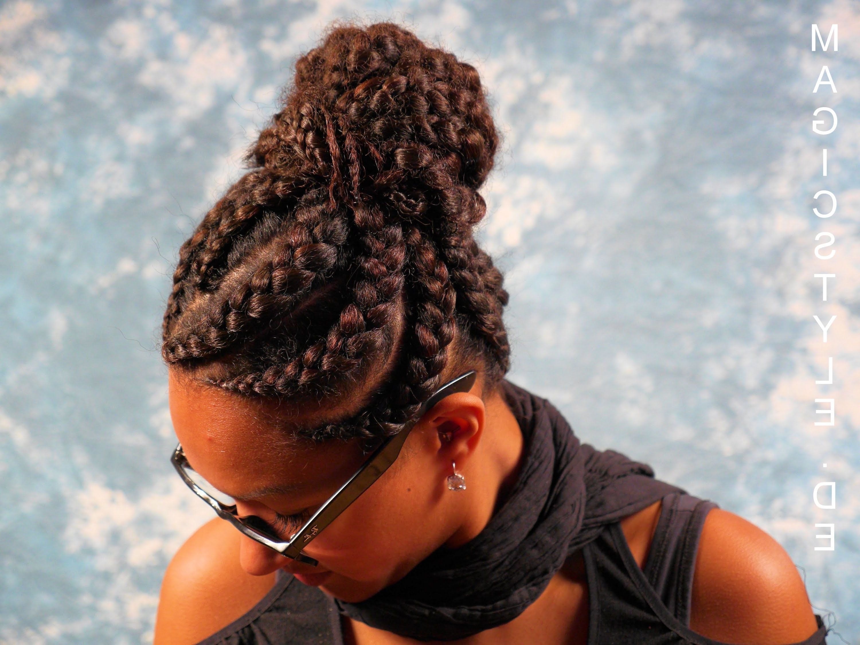 Featured Photo of Big Updo Cornrows Hairstyles