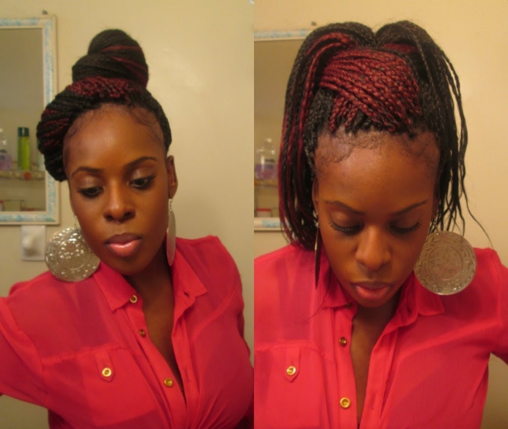 """Favorite Braided Hairstyles Without Edges Pertaining To How To Style Box Braids """"brandy Inspired"""" 11 Styles – Youtube (View 8 of 15)"""