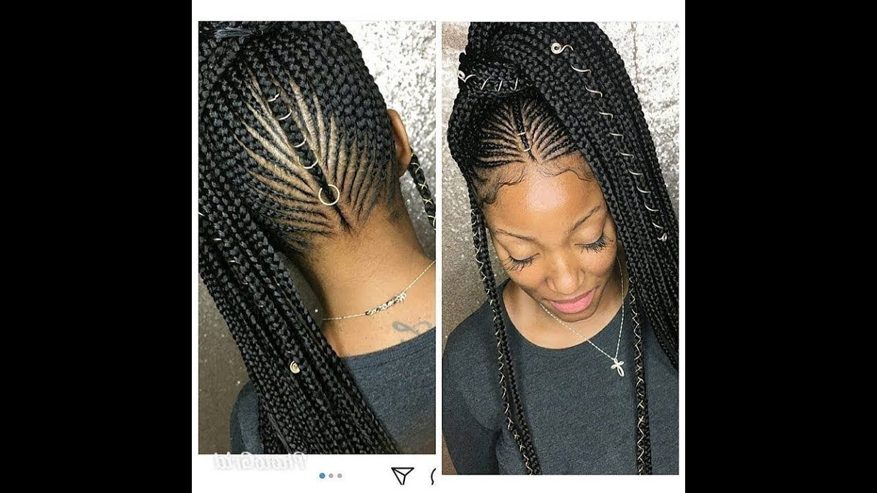 Favorite Carrot Cornrows Hairstyles For Nigerian Hair Styles 2018 – Famous Hair Style  (View 6 of 15)