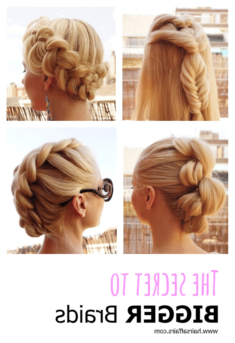 Favorite Crimped Crown Braids Within The Secret To Bigger Braids – Hairsaffairs (View 15 of 15)