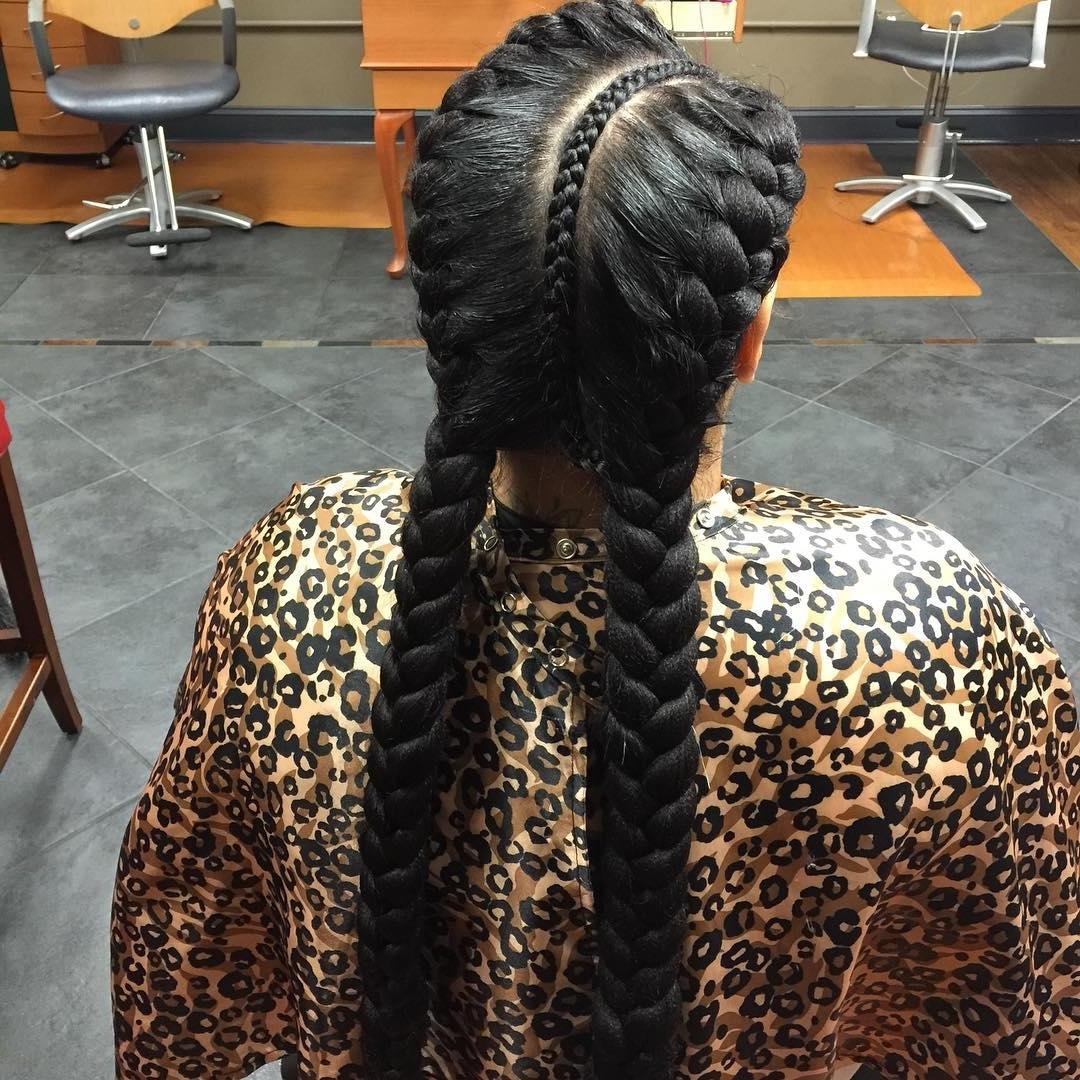 Favorite Criss Cross Goddess Braids Hairstyles Pertaining To 26+ Goddess Braided Hairstyle Designs (View 7 of 15)