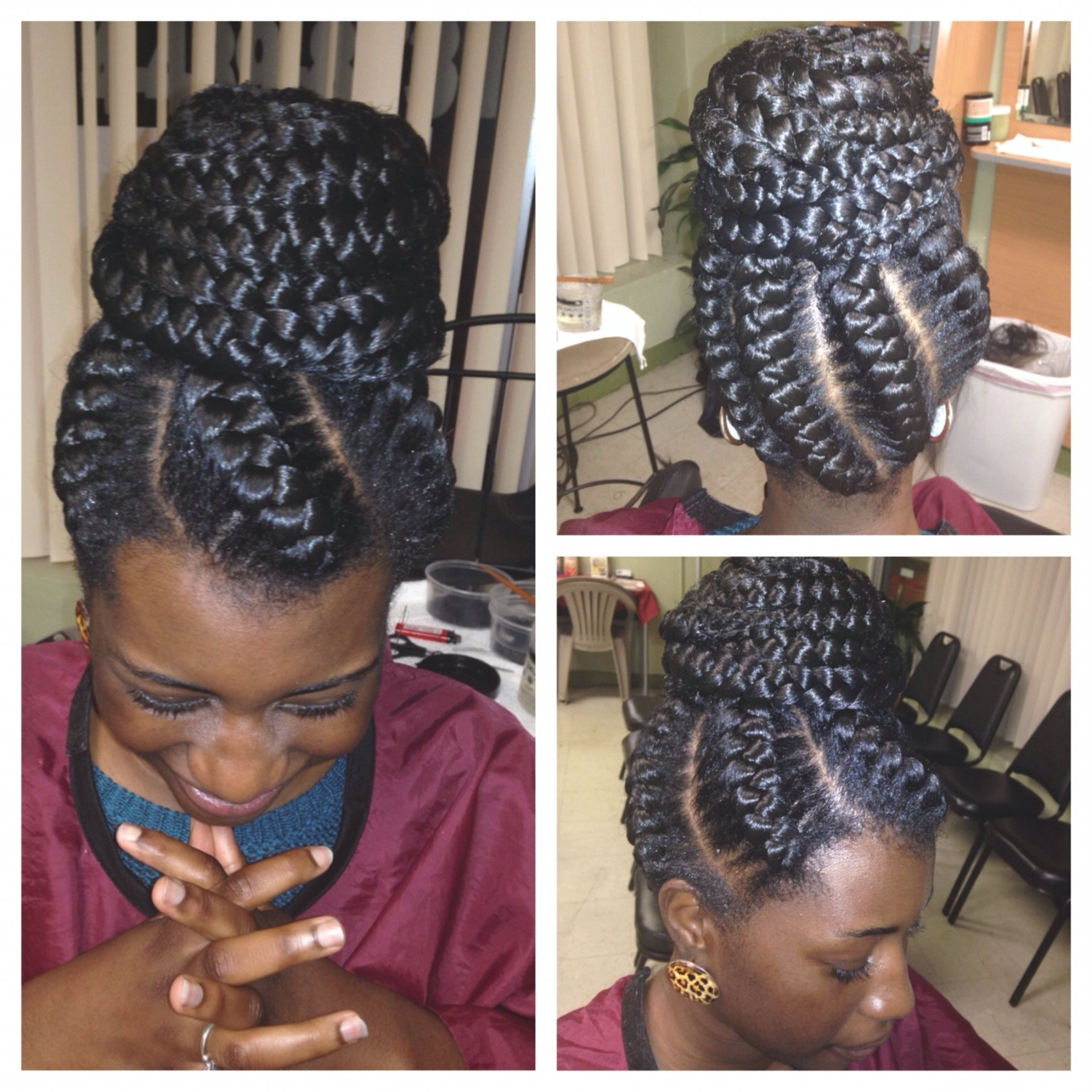 Favorite Large Braided Updos In Best Ideas Of Braided Hairstyles Into A Bun Creative How To Create A (View 9 of 15)