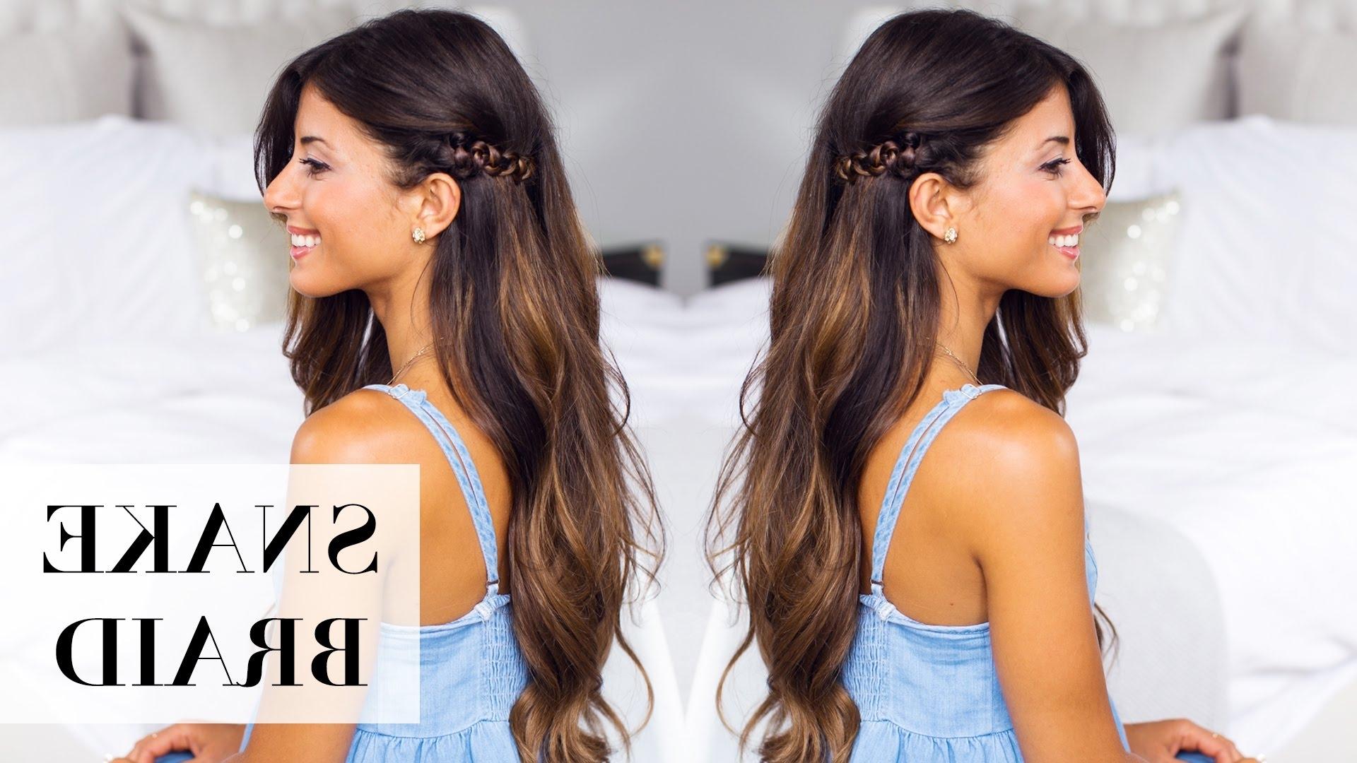 Favorite Snake Braids Hairstyles Throughout Snake Braid Hair Tutorial – Youtube (View 2 of 15)