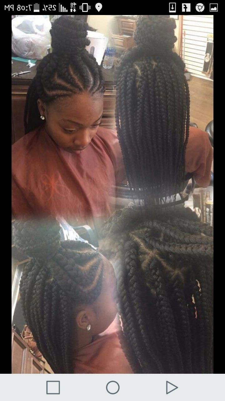 "Feed In Braids Half Up /""half Down #pinterest @shiiphillips With Regard To Most Recently Released Half Up Half Down Cornrows Hairstyles (View 12 of 15)"