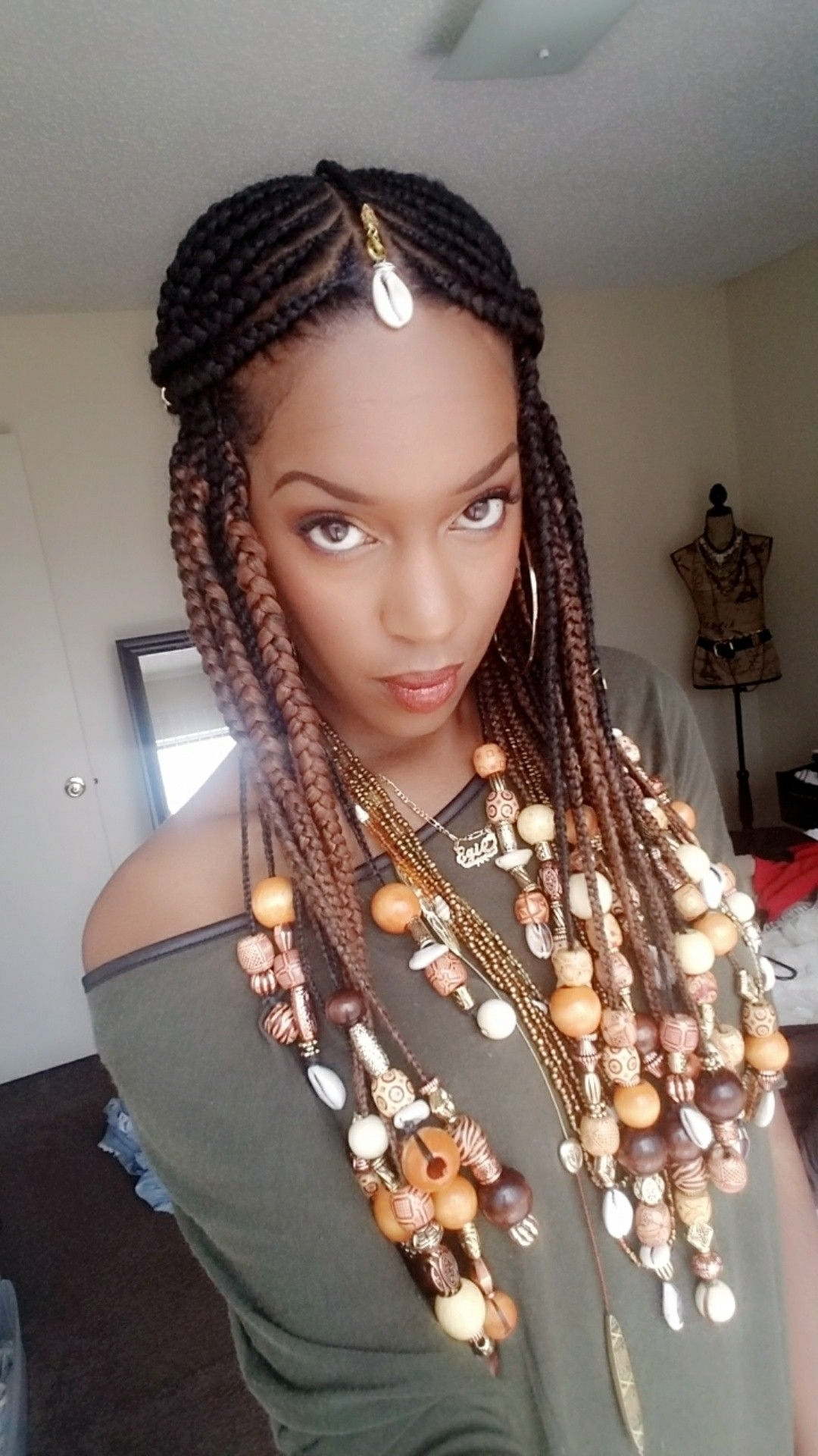 Feed In Fulani Inspired Braids With Lots Of Beads! (View 8 of 15)